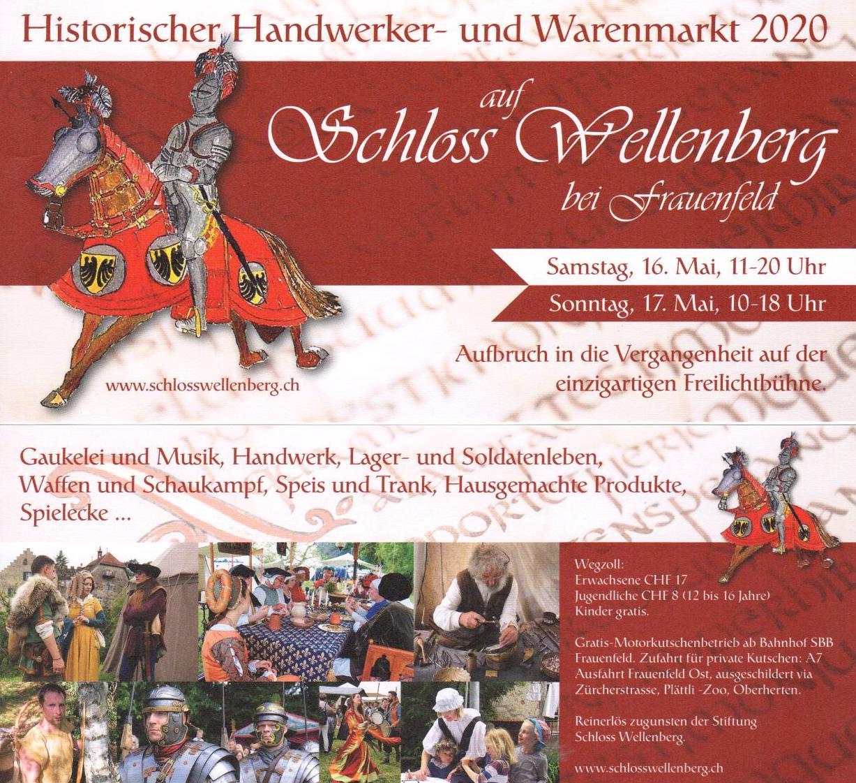 HISTORISCHER HANDWERKER- UND WARENMARKT AUF SCHLOSS WELLENBERG